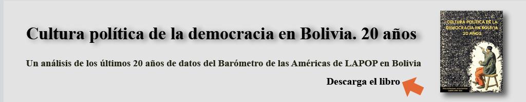 Libro Cultura Política de la Democracia en Bolivia. 20 años